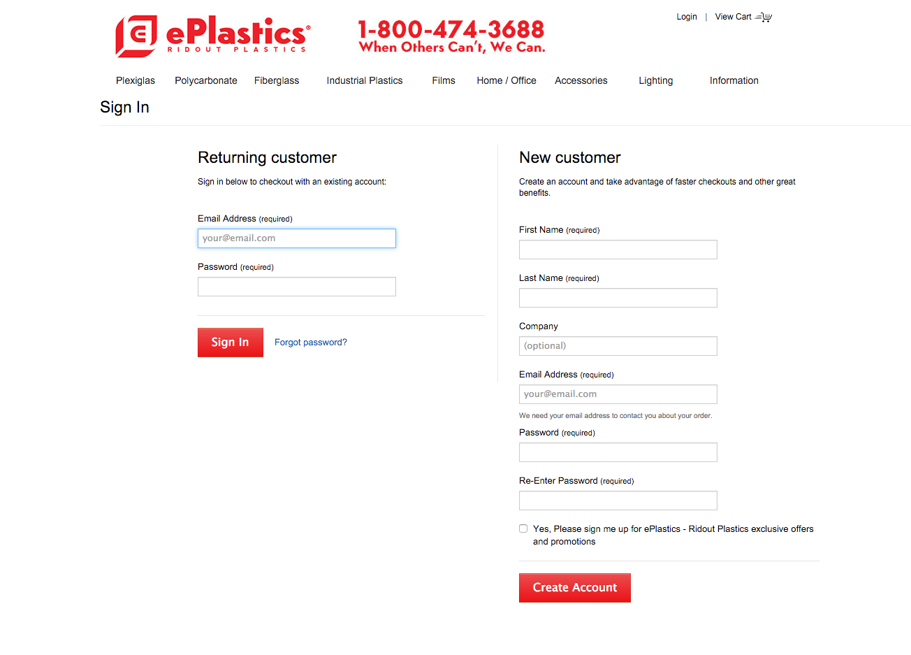 ePlastics® Order Information Instructions