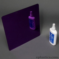 purple plexiglass mirror