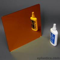 orange plexiglass mirror