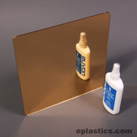 gold plexiglass mirror