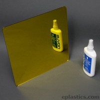yellow plexiglass mirror