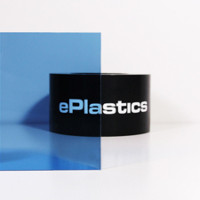 Cut-to-Size Transparent Color Acrylic Sheets in Stock at