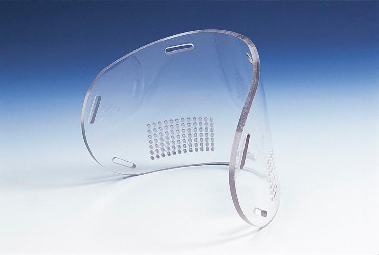 fabrication job for a navy seal mask plastic fabricator