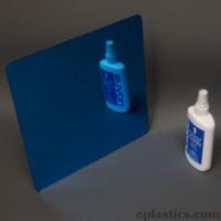 blue plexiglass mirror