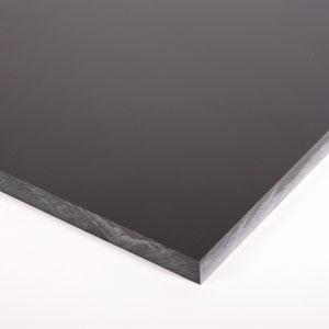 """3/"""" X 5.5/"""" X 6.5/"""" Black Color Acetal Sheet Delrin Plastic"""
