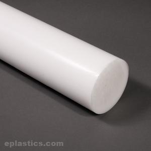 ".500/"" 1//2/"" Diameter x 6/"" Length Ptfe Virgin Plastic Rod Bar Teflon"