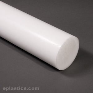 x 6 inches Long 4-1//2 inch 4.500 Online Metal Supply PTFE Teflon Round Rod White