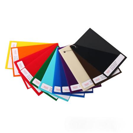 Colored Plexiglass plastic samples