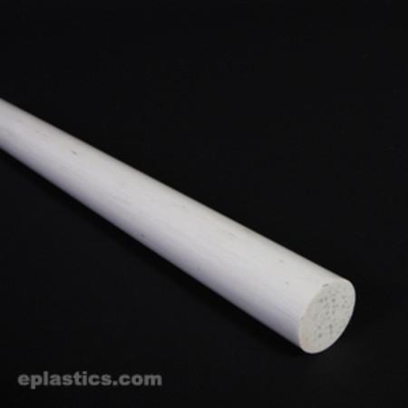 1 2 Quot Dia Round White Thermal Cure Fiberglass Rod At Eplastics