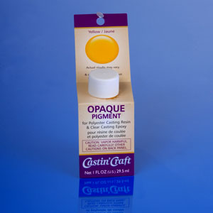 Yellow opaque pigment for polyester casting and clear for Castin craft clear resin