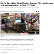 """Family-Owned San Diego Plastics Company Fills High Demand for Plexiglass Barriers to Fight COVID-19"""