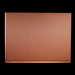 ati traditional rib argent copper backsplash sheet panel 18 x 24