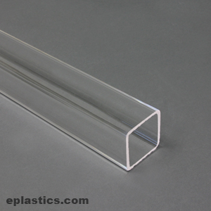 2 000 Quot Square Extruded Acrylic Tube At Eplastics