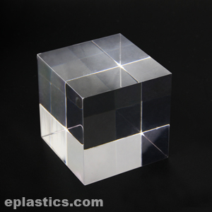 clear acrylic cube at eplastics. Black Bedroom Furniture Sets. Home Design Ideas