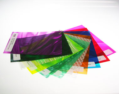 Rowlux Illusion Lenticular Films Samples - clear and colors