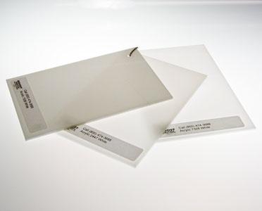White Plexiglass colors lighting and sign plastic samples