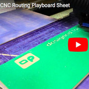 VIDEO: CNC Routing Playboard Sheet