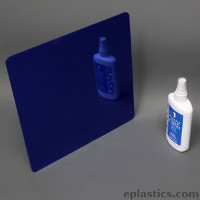 dark blue plexiglass mirror sheet
